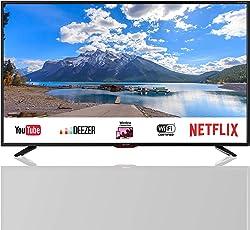SHARP 4K Ultra HD Smart LED TV, 102 cm (40 Zoll), Harman/Kardon Soundsystem, LC-40UI7552E, Schwarz