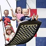 Große Mehrkindschaukel STANDARD weiß/rot/blau für 4 Kinder, 136 x 66 cm (SPR.L.109) - das Original direkt vom Hersteller die-schaukel.de