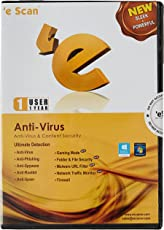 eScan Anti-Virus with Total Protection Version 11 - 1 PC, 1 Year (CD)