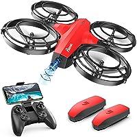 Potensic P7 Drone per Bambini con Modalità Battaglia, Mini drone con Telecamera 720P, 20 Minuti di Volo, Quadricottero RC FPV Droni per Principianti, Modalità Senza Testa, 3D Flip, 2 Batterie, Rosso
