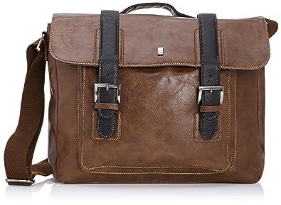 STORM Men's Satchel Messenger Bag Brown - Marriott: Amazon.co.uk ...