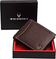 WildHorn Genuine Leather Hand-Crafted Bifold Wallet, Ultra Slim Wallet with 6 Card Slots, Coin pocket and 2 Currency...