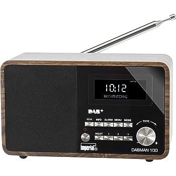 Imperial 22-220-00 100 DABMAN radio digitale (legno contenitore, LCD-display, DAB +/FM, RDS, 3,5 mm jack) marrone