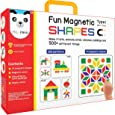 Fun Magnetic Shapes (Junior) : Type 1 with 44 Magnetic Shapes, 200 Pattern Book, Magnetic Board and Display Stand