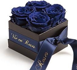 Rosenbox La Vie en Roses 4 konservierte Rosen haltbar 3 Jahre/Blumenbox / Flowerbox/Liebesgruß / Verlobung/Heiratsantrag von ROSEMARIE SCHULZ® Heidelberg