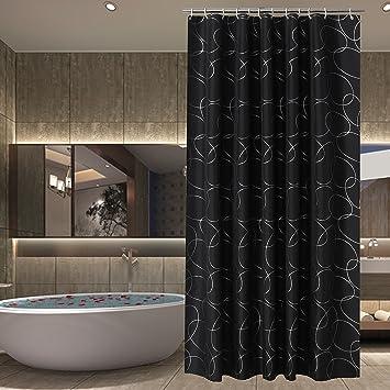 sfoothome wasserdicht polyester stoff vorhang fr die dusche midew bestndig waschbar bad vorhang fr badezimmer mit anti rost tllen kunststoff vorhang - Stoff Vorhang Dusche