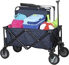 Campart Travel HC-0910 klappbarer Strandwagen/Bollerwagen - 70 Kilogramm Belastbarkeit mit Tasche