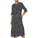 MISS SELFRIDGE Black Floral Midi Smock Dress Vestido Informal para Mujer