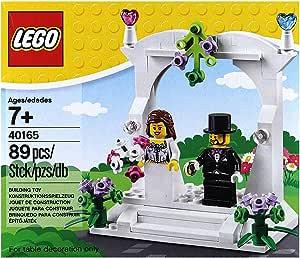 LEGO Minifigura capelli castani Sposa /& Sposo Abito Viola Matrimonio
