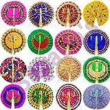 Suparia's™ Laddu Gopal Dress Set for God Krishna (Ladoo Gopal Poshak) Mix Colors (Size: 0 no./ 4 inch; Qty: 5)