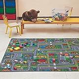 Carpet Studio Anti-Slip Speelmat Auto, 140x200cm, Kindertapijt voor Slaapkamer, Kinderkamer & Speelkamer, Jongen & Meisje, 30