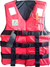 Jilani Trading Polyester Adult Safety Life Jacket, 100kg (Red)