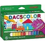 Ceras Dacs 24 colores Alpino - Ceras para Niños - Caja de Ceras de Colores para Material Escolar - Semiblandas, No Manchan, R