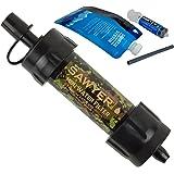 Sawyer MINI Filtre à eau - Camping Système de filtration d'eau PointONE 0,1 Mikron Filtre Exclusive Colours