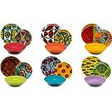 Excelsa Afrika Service de table 18 pièces, porcelaine et céramique, multicolore