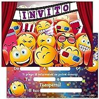 Biglietti Inviti per Festa a Tema Grafica a Scelta 30pz Battesimo - Baby Elephant