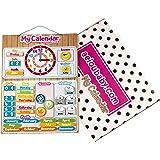 Kalendarz Zegar Magnetyczny Dziecięcy, Gra Edukacyjna Data Czas i Godzina na ścianę lub Lodówkę, 43x32cm. Pudełko Urodziny dl