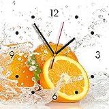 Contento 866080 Wanduhr, 28 x 28 cm, Orange