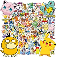 Stickers Pokemon, 100pcs Autocollants Pokemon, Stickers Voiture, Autocollant Enfant, Stickers Moto, Stickers Skate…