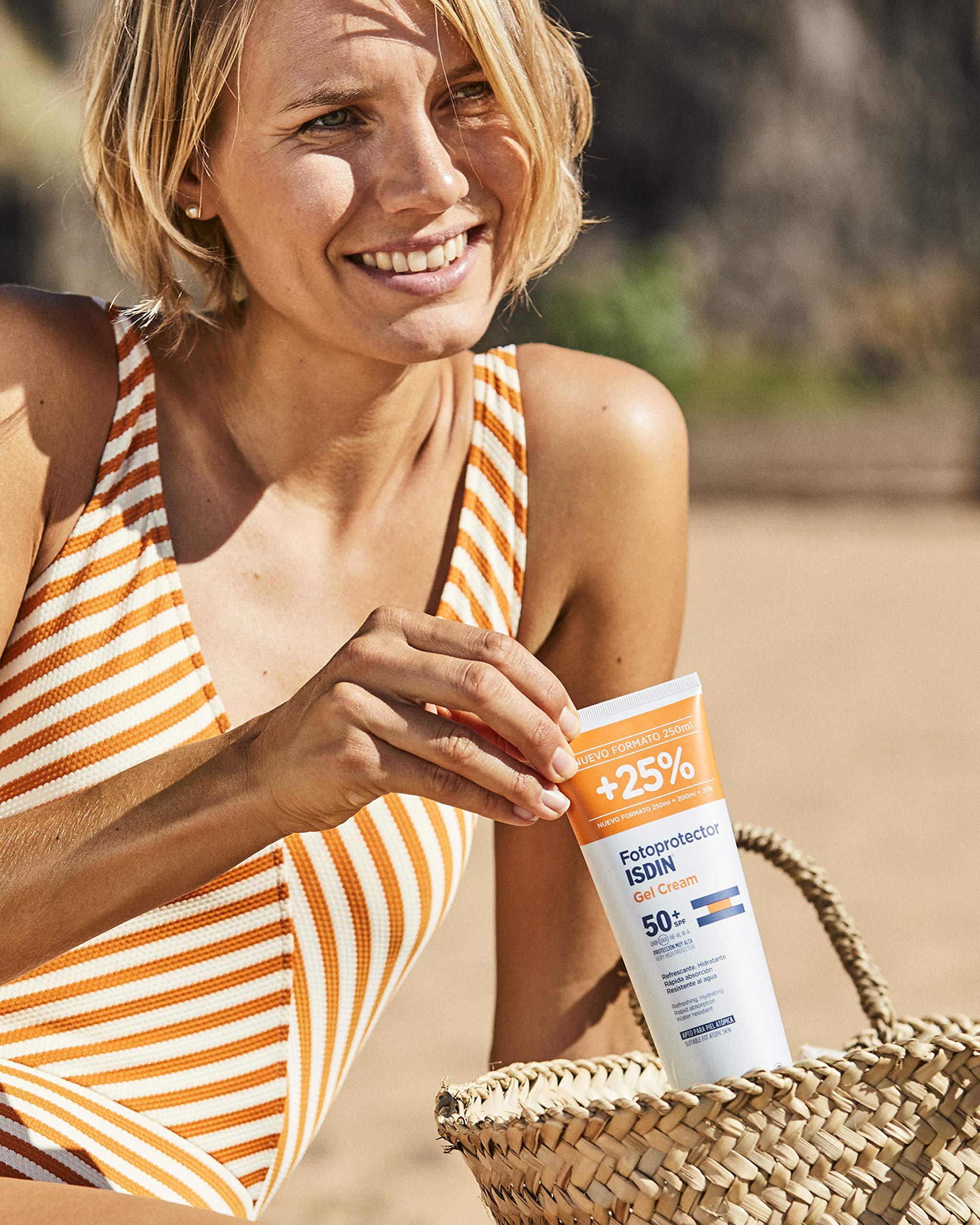 ISDIN Fotoprotector Gel Cream SPF 50+ – Crema Solar Corporal refrescante e hidratante, Muy Alta Protección,  Rápida absorción