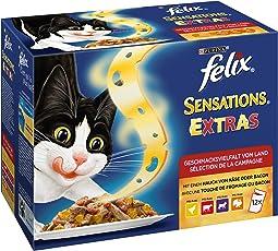 Felix Katzennassfutter Sensations, 6er Pack (6 x 12 x 100g) Portionsbeutel