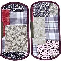 Kuber Industries 3D Checkered Design PVC 2 Pieces Fridge/Refrigerator Handle Cover (Maroon) - CTKTC39694