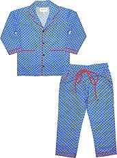 ShopMozo - Blue Printed Boys Night Suit ( Boys Night Dress )