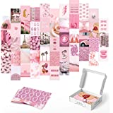 Haus and Hues Pink Aesthetic Wall Collage Kit - Set of 50 Aesthetic Pictures for Wall Collage | Pink Wall Collage Kit Aesthet