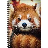 3D LiveLife A5 Notitieboek - Baby Rode Panda van Deluxebase. 3D Pandanotitieboekje met 80 pagina's. School- of kantoormateria