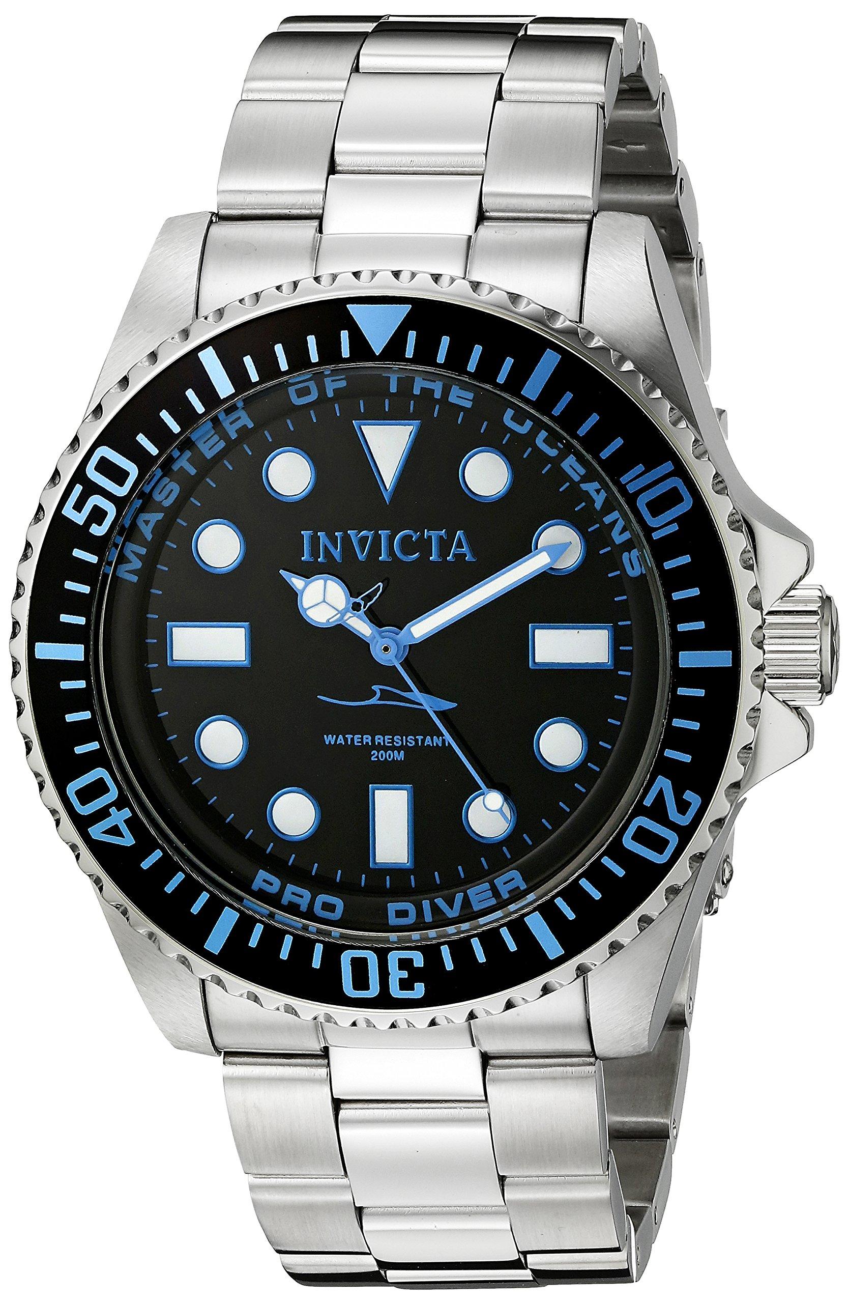 Invicta 20122 Pro Diver Reloj para Hombre acero inoxidable Cuarzo Esfera negro