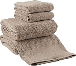 By Adab 600 GSM 4 Piece Soft Touch Premium quality cotton Face Towels - Beige