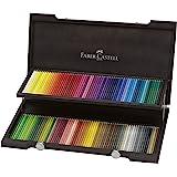 Faber-Castell 110013 - Buntstifte Polychromos, im 120er Holzkoffer, verschiedene Farben