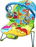 Transat musical apaisant pour bébé Just4baby avec vibrations et 3 jouets suspendus sur le thème des dinosaures