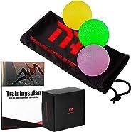 MAVE ATHLETIC® Handtrainer Griffbälle im 3er Set - Effektive Fingertrainer Antistressbälle für mehr Griffkraft