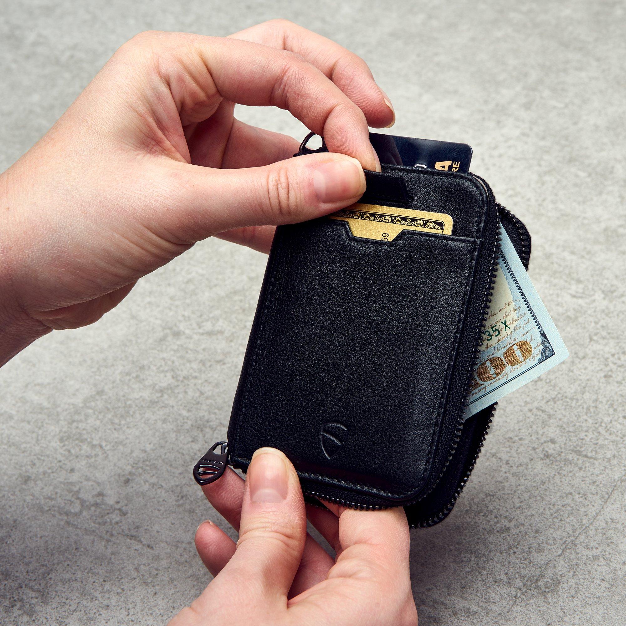 Vaultskin Notting Hill Schlanke Brieftasche Mit Reißverschluss Und