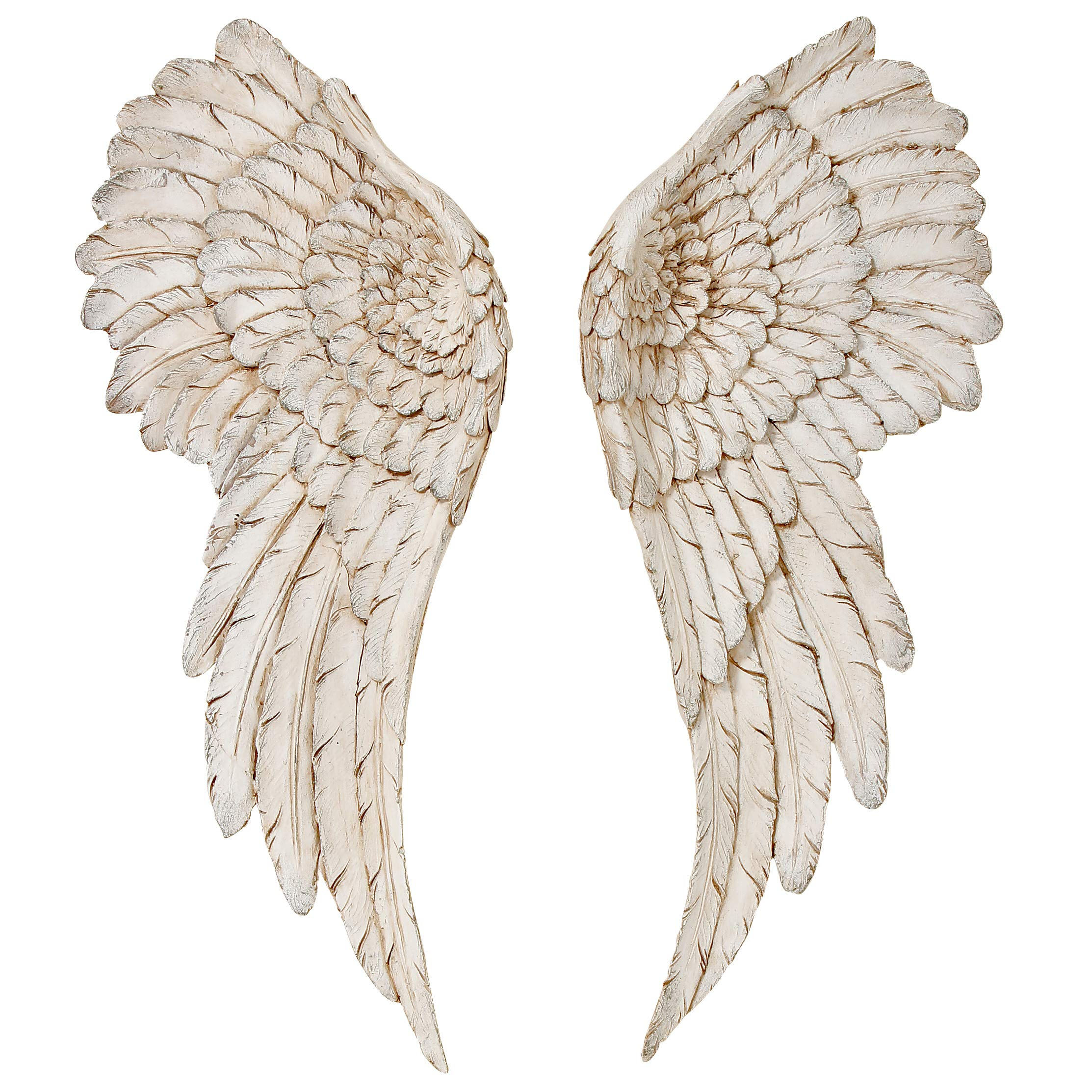 b297119d9 Angel Wings Wall Object, Vintage Style, Set of 2, H55 cm, Antique ...