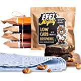 Feel Mighty Low Carb Brownies- Pack of 5 High Protein, Low Calorie, Sugar-Free Snacks- 2 Dark Chocolate, 2 Chocolate…
