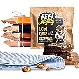Feel Mighty Keto Friendly Low Carb Brownies Assorted Box 2-High Protein,Sugar- Free Snacks-2 Dark Chocolate Fudge,2…