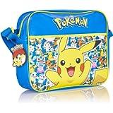 Pokemon Pikachu Messenger Bag for School Or Travel with Glow in The Dark Pikachu   Back to School Crossbody Shoulder Bag…