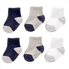 Carter's Baby Boys' Crew Socks (6 Pack)