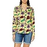 Scotch & Soda Oversized Boxy Fit Cotton Viscose Shirt with Hawaii Collar Camicia Donna