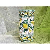 Portabicchieri Da Tavola In Ceramica Siciliana Dipinto A Mano Con Limoni. Porta Bicchieri Di Plastica. Le Ceramiche Di…