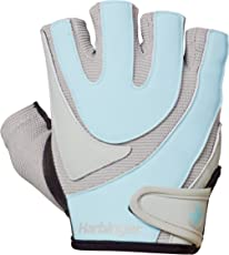 Harbinger Training-Grip Wristwrap Weightlifting Gloves with TechGel-Padded Leather Palm (Pair)