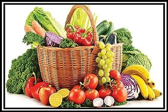 Graphics World Kitchen Decor Wall Sticker Poster Vegetable & Fruit Photo vastu Painting, Wall Sticker, Wall Painting, Washable Vinyl Sticker Poster, Natural Sticker, Home Decor, Photo, Wallpaper
