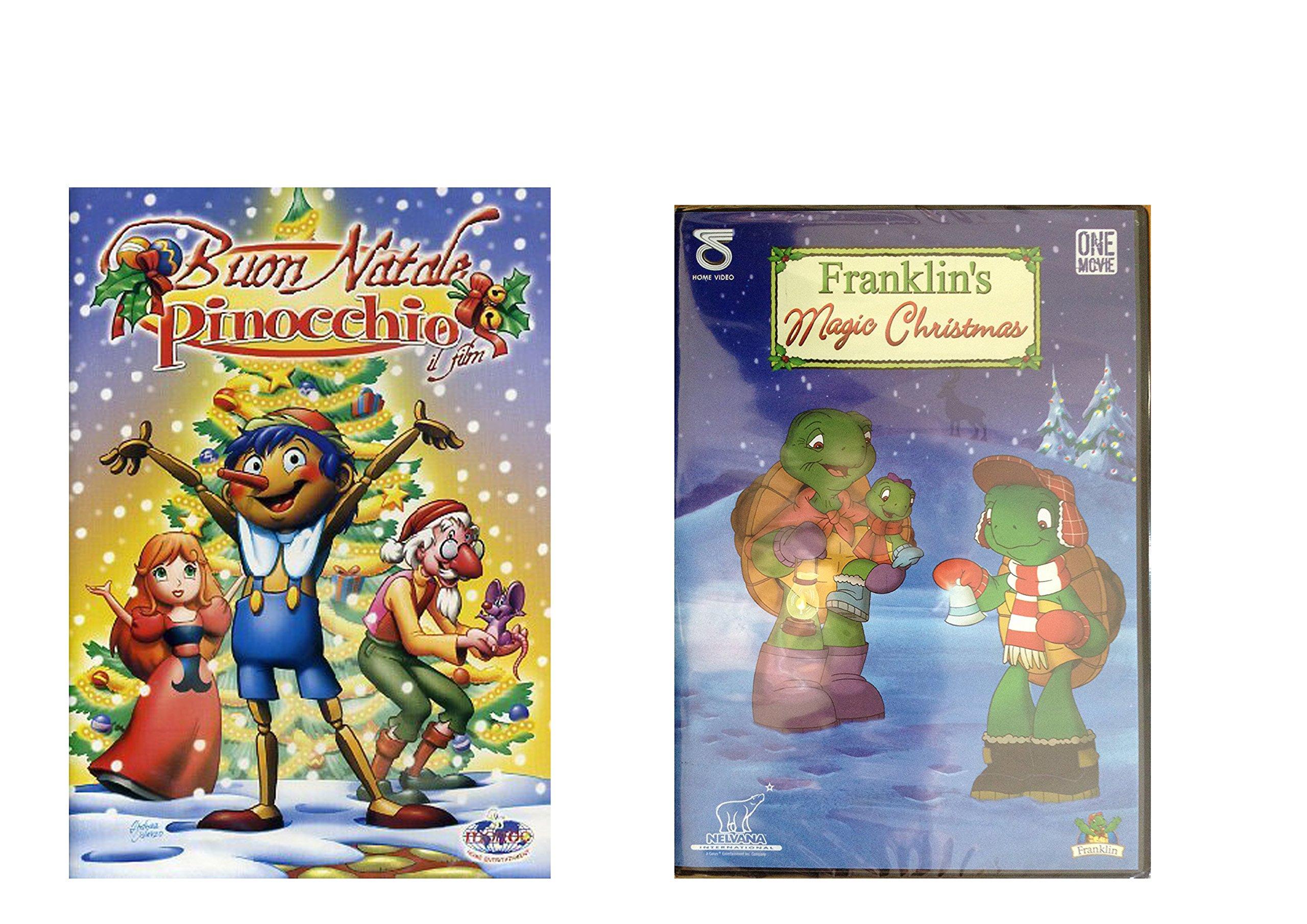 Offerta Speciale 2 DVD Natalizi, Franklin's Magic Christmas e Buon Natale Pinocchio, Idea Regalo, P