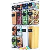 Chef's Paths Lufttäta Förvaringsburkar för ditt Kök – 14 st - Komplett Förvarings Set för Kök och Skafferi – BPA-fri Plast –