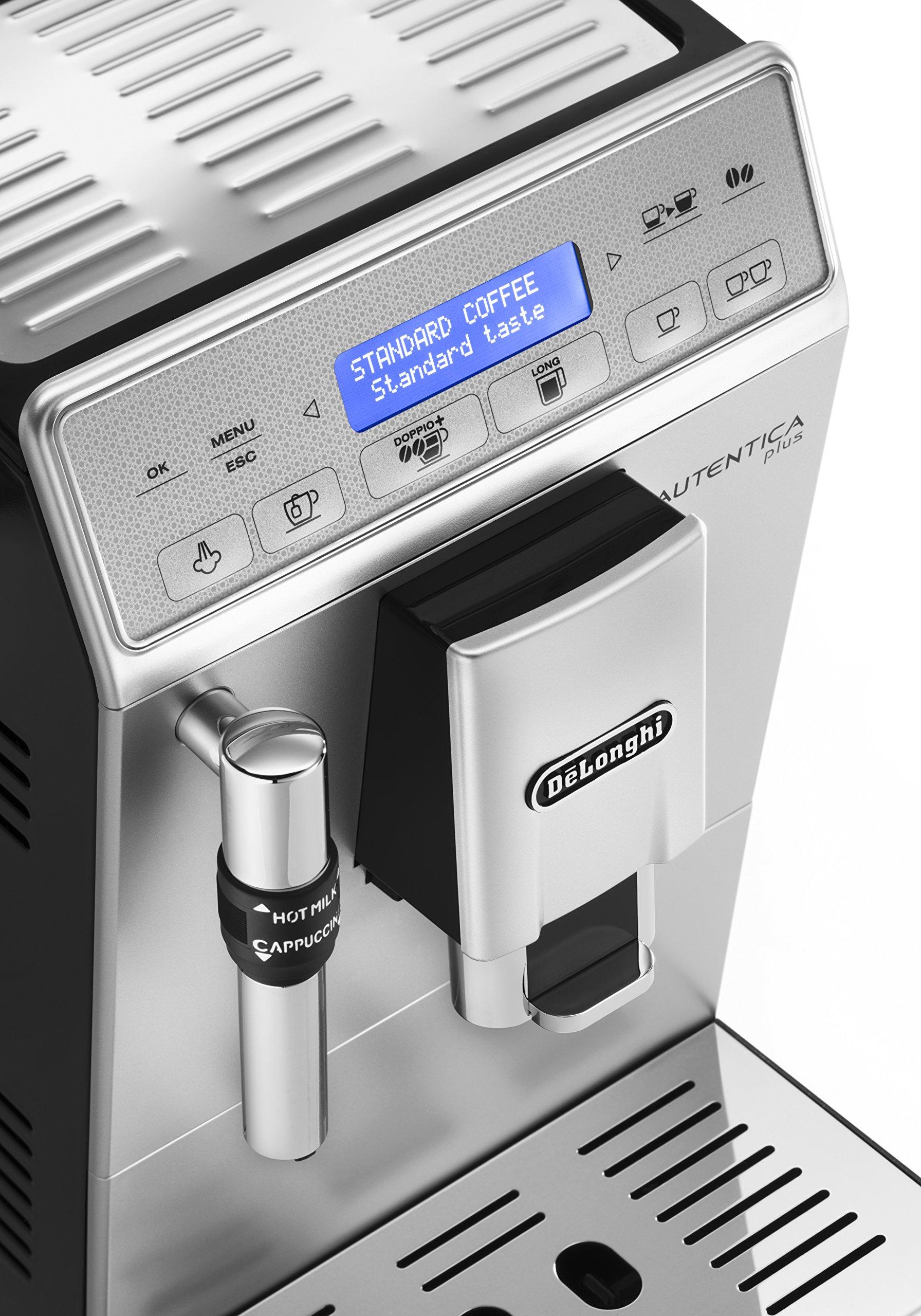 DeLonghi-Autentica-Plus-ETAM-29620SB-Kaffeevollautomat-1450-W-14-l-Dampfdse-silberschwarz