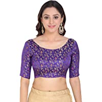OOMPH! Womens Jacquard Round Neck Blouse