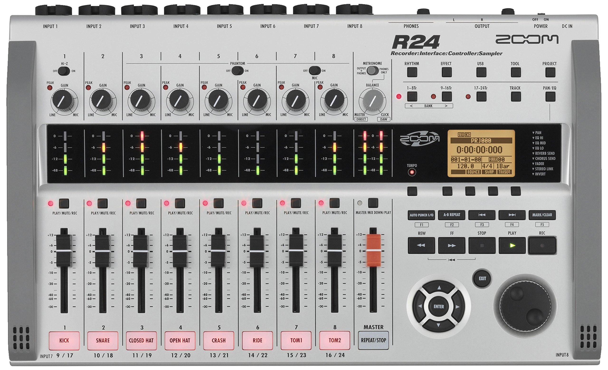 Zoom R24 – Enregistreur Multipistes, Noir