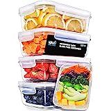 Igluu Meal Prep - [Lot de 5] Boîtes alimentaires en verre pour préparation des repas - Réutilisables, sans BPA - Compatibles